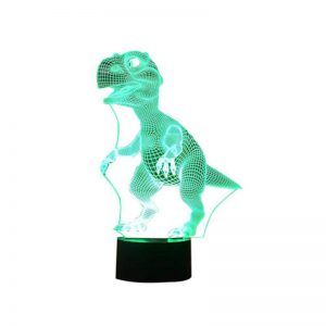 3D LED Lampa Dinosaurie